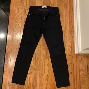 Free People Size 28 Black Cropped Stretchy Jeans